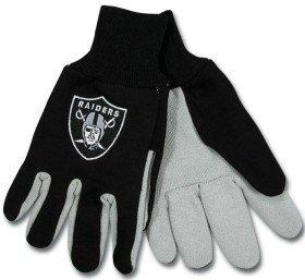 Oakland Raiders, zweifarbig, Handschuhe, Erwachsenen-Größe: