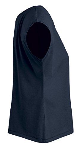 YTWOO Oversize Damen T-Shirt Aus 100% Bio-Baumwolle, Weit Geschnittenes Damen T-Shirt mit U-Ausschnitt, Oversize Damen Shirt Navy