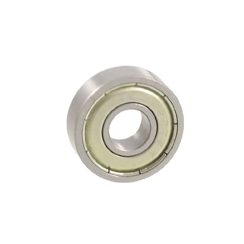 Preisvergleich Produktbild sourcingmap® 607ZZ Single row Tiefe Nut Stecker Ball Kugellager 19 mm x 7 mm x 6 mm