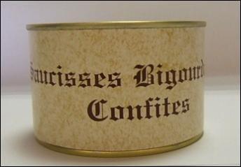 Gailhou Durdos - Saucisses Bigourdanes Confites 400g