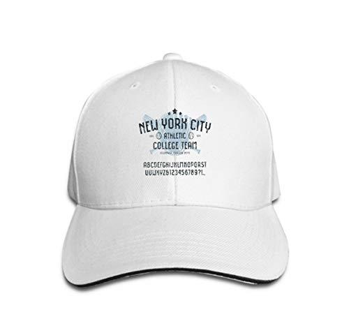 Trucker Hat Unisex Adult Baseball Mesh Cap sans Serif Font Sport Style Baseball Badge t Shir sans Serif fo White -