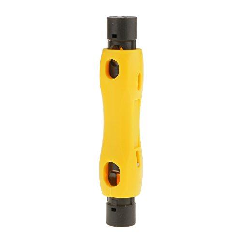 MagiDeal Speedy Kabel Koaxkabel Abisolierzange Cutter Stripper-Tool Für RG6 RG59 RG7 RG11 Cat5 / 6