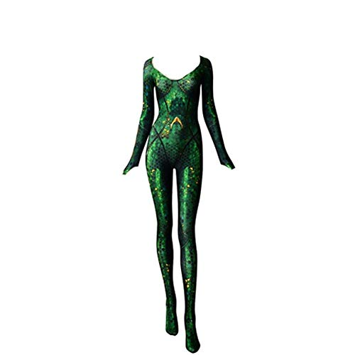 Mera Cosplay Costume -Queen Atlanna Bodysuit (Groß)