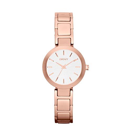 DKNY NY2400 - Reloj de cuarzo con correa de acero inoxidable para mujer, color rosa