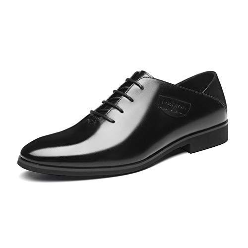 Lanshay gioventù oxford scarpe da uomo - stringate morbide pelle bovina primo strato formali scarpe in pelle casual eleganti tuta (colore : nero, taglia : 39eu)