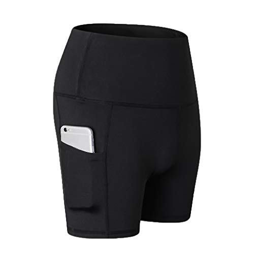 Yvelands Damen Yoga Pants High Waist Out Pocket Tummy Control Workout Running 4 Way Stretch Sport Leggings