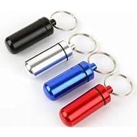 Domire Pillendose aus Aluminium mit Schlüsselanhänger, Flaschenhalter preisvergleich bei billige-tabletten.eu