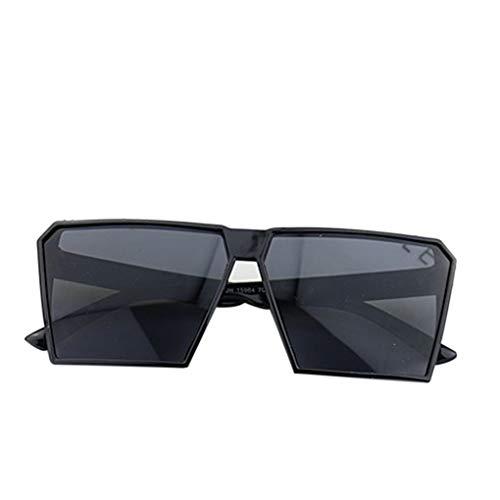Timlatte Große Rahmen Retro-Sonnenbrille Retro-Platz Brillen Männer Jungen Frauen Mädchen Brillen Street UV400 Helles Schwarz one Size