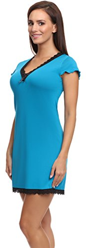 Merry Style Chemise de Nuit Femme Zoey Turquoise (1726)