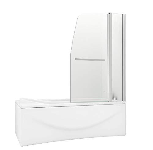 HNNHOME - Mampara de Cristal para Ducha, Panel Doble con pivote de 180