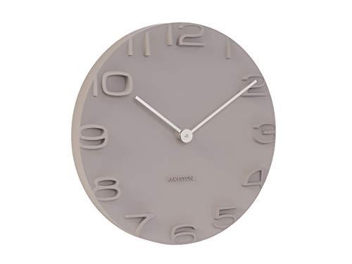 Karlsson On The Edge Uhr, Wanduhr, Kunststoff, Grau, One Size