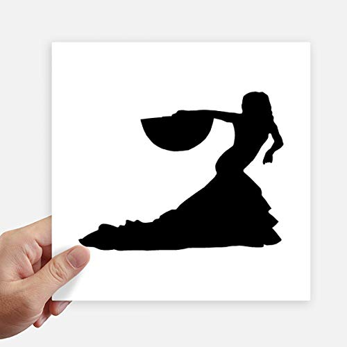 DIYthinker Rendimiento Bailarín del Ventilador del Baile Cuadrado Pegatinas Pared de 20 cm Maleta portátil...