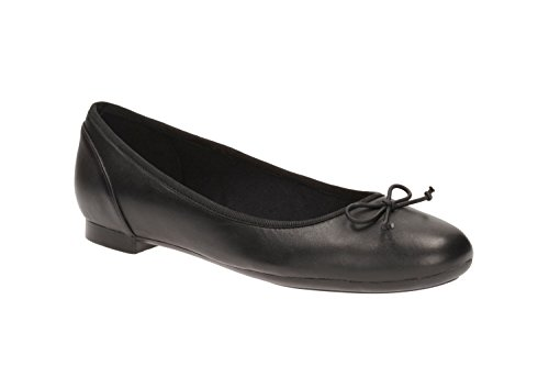 Clarks Couture Bloom Wide Fit - Black Leather Various Black