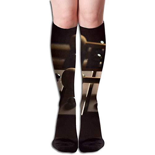 SKDJFBUD Tube High Keen Sock Boots Crew Xylophone Compression Socks Long Sport Stockings