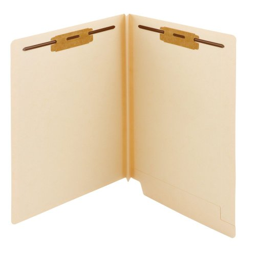SMEAD Ende Tab Verschluss Datei Ordner, shelf-master ® verstärkte gerade geschnittene Tab, 2Schrauben, Letter Size, Manila, 50pro Box (34276) -