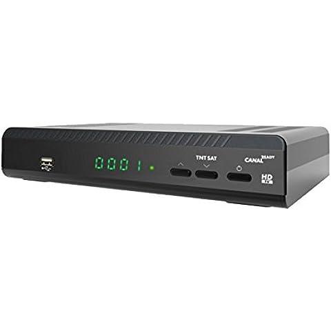 BFSAT TNTSAT HD - Receptor de TV por satélite, color negro (importado)