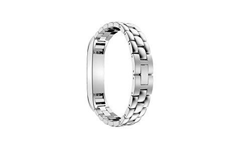 Für Fitbit Alta HR Armband, Für Fitbit Alta Band, AISPORTS Fitbit Alta Edelstahl Skala Design Smart Watch Ersatzbänder Armband Handgelenkband für Fitbit Alta / Alta HR Fitness Zubehör - Silber