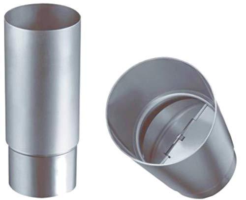 Geruchsverschluss Edelstahl - Titanzink 100 mm