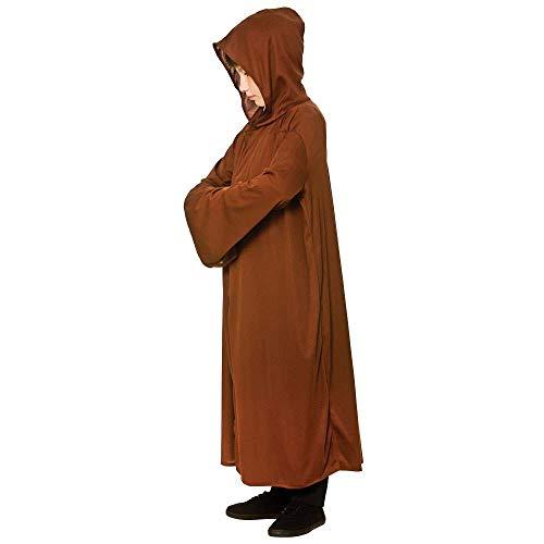 Robe Hooded Kostüm Brown - Hooded Robe - Brown Kids Fancy Dress