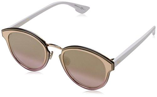 Dior Damen DIORNIGHTFALL WO 24S Sonnenbrille, Gold White/Gd Sm Pink Art, 63