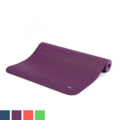 Natur-Kautschuk Yogamatte ECO PRO XL, extra-lang, violett/lila, extrem rutschfest, 4mm, 100% Naturmaterial, Ökotex 100, Naturkautschuk ohne Zusätze,...
