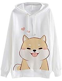 VJGOAL Moda para Mujer Casual Animal Print Sudadera con Capucha de Manga Larga Jersey con Capucha Blusa de impresión