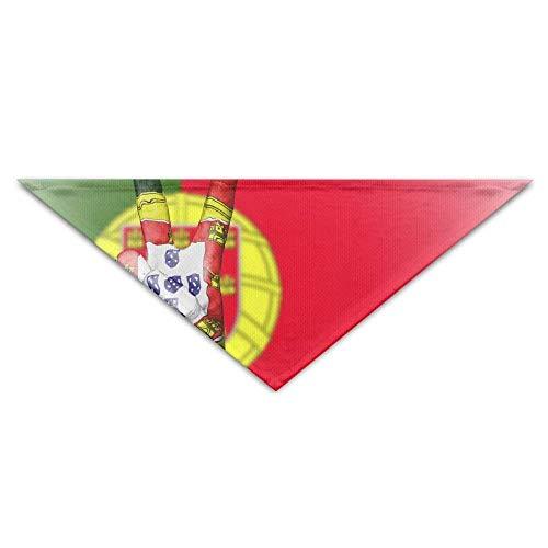 Sdltkhy Portugal Peace Hand Nation Triangle Pet Scarf Dog Bandana Pet Collars Dog Cat - Birthday