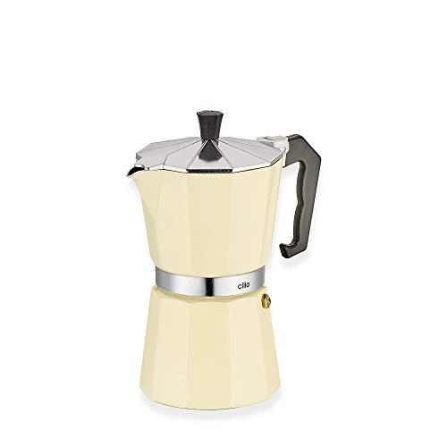 Cilio Espressokocher Classico 6 Tassen Farbe beige Espressobereiter