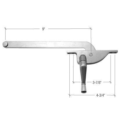 Bronze Casement Fastener (C.R. LAURENCE 5009RHAL CRL Aluminum 9 Right Hand Teardrop Series Casement Window Operator by C.R. Laurence)