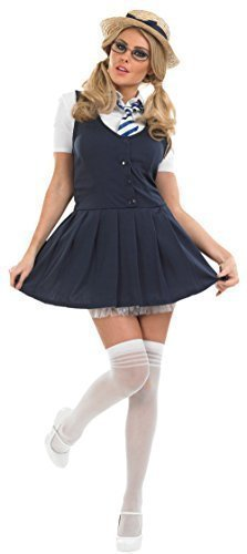 St Trinians School Girl Fancy Dress Costume Outfit with Hat UK 8-30 Plus Size (UK 16-18) by NA (School Girl Plus Size Kostüme)