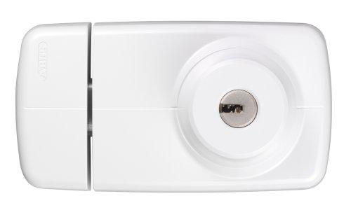 ABUS Tür-Zusatzschloss 7025 mit beidseitigem Zylinder, weiß, 53297
