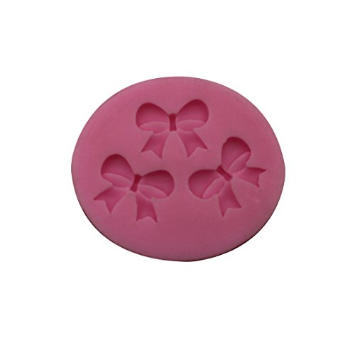 joyliveCY 3D Bowknots Blume Silikon Fondant Kuchen Schokoladen Mold Decorating Backen kompatibel mitm Werkzeug DIY -