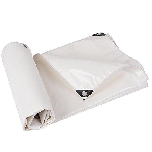 TAO Regenfeste Sonnenschutzplane für schwere Anwendungen, Wasserdichte Plane, Markisen, Zelt, Bodenabdeckungen mit Ösen, weiß, 500g / m² (größe : 3 * 4m)