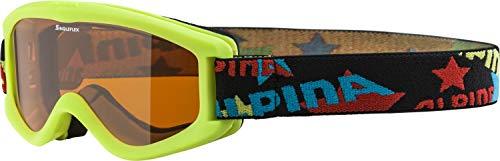 Alpina Kinder Skibrille Carvy 2.0, lime, One Size, 7076471