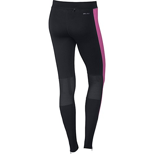 NIKE Damen Dry Fit Essential Tights Hose Black/Hot Pink/Reflective Silv - 2