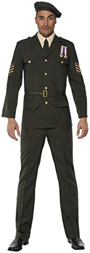 Offizier Kostüm - KULTFAKTOR GmbH Offizier Kostüm Uniform grün M