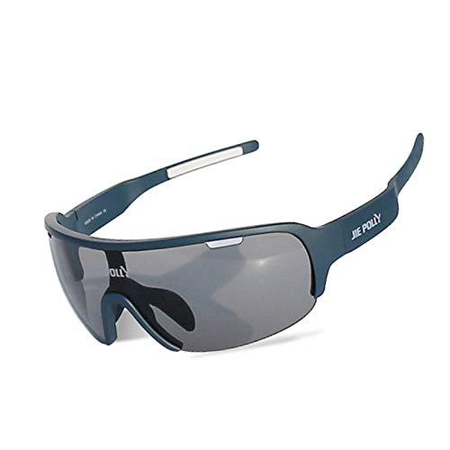 Lafeil Sportsonnenbrille Fahrrad Damen Herren Outdoor Sportler Für Männer Und Frauen Sind Spiegelsichere Brillen Blau