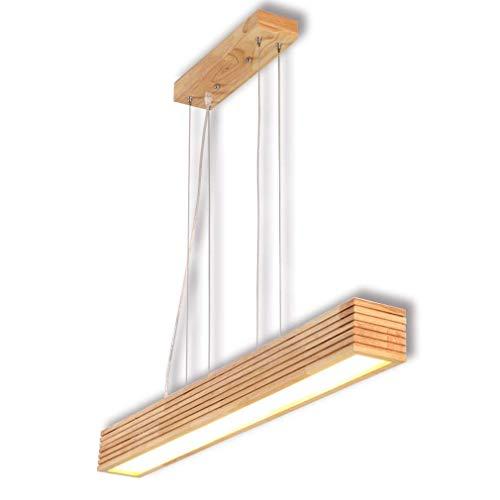 ZY Lámpara colgante de madera Lámpara de mesa de comedor LED Lámpara colgante Comedor moderno Lámpara de madera Altura Ajustable Lámpara de techo Lámpara de techo Iluminación Lámpara de oficina Barra
