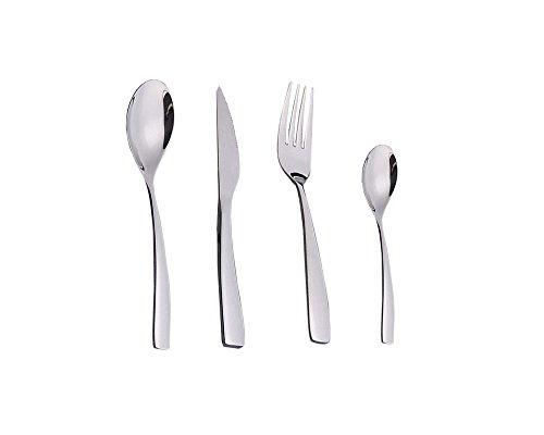 Gehobene Qualität 18/10 Edelstahl Gabel-Löffel-Messer Besteck Set,4pcs,4pcs