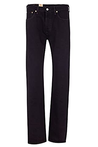 Levi's Herren Jeans Straight Leg 501 ORIGINAL FIT 660 BLA, Farbe: Schwarz, Größe: 38/32