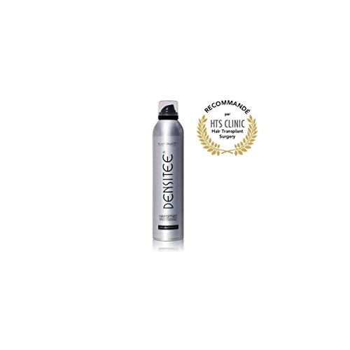 Spray Fixateur Cheveux Spray poudre à cheveux volumatrice et densifiante Anti calvitie & alopécie Spray Densitee 300 ml Masque calvitie, perte de cheveux & racines HTS Clinic Normes CE