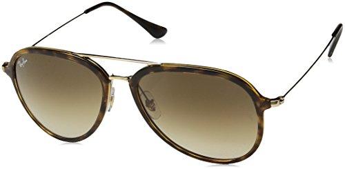 Ray-Ban Unisex-Erwachsene 0RB4298 710/51 57 Sonnenbrille, Light Havana/Crystalbrowngradient