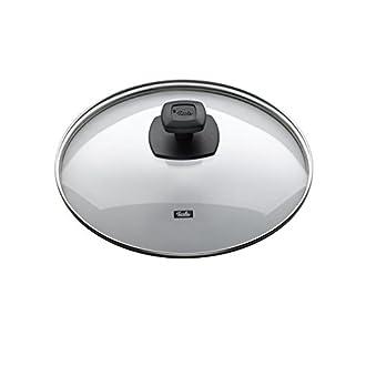 Fissler Comfort / Couvercle En Verre de Qualité (Ø 24 Cm), Couvercle Plat Pour La Casserole Et Le Pot, Bord En Acier Inoxydable