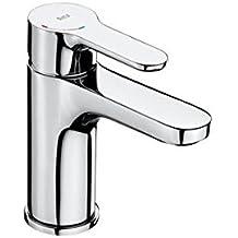 Roca A5A3K09C00 L20 Cold Start - Mezclador monomando para lavabo con cuerpo  liso y enlaces de 25d952211740