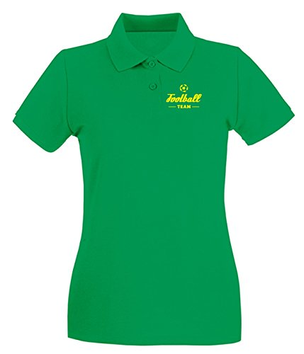 Cotton Island - Polo pour femme WC1210 Football Team Maglietta Vert