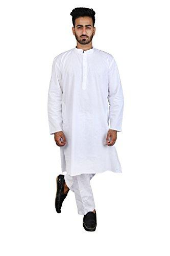 Thaath Men's Ethnic White Kurta Pyjama Set (Eid Collection)