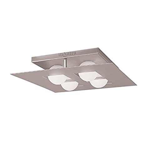 Cocoon ceiling 4 Light (square) silver