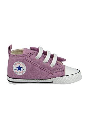 Converse Chucks bébé 851673C Violet Velcro poudre violette Blanc Noir Powder Purple White Black