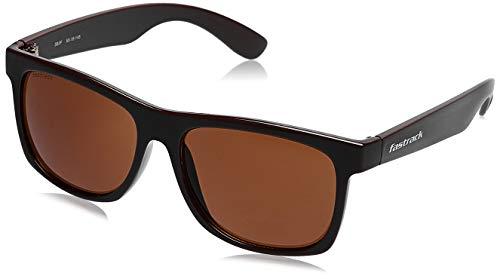 Fastrack UV Protected Wayfarer Men\'s Sunglasses - (P425BR1 56 Brown Color Lens)