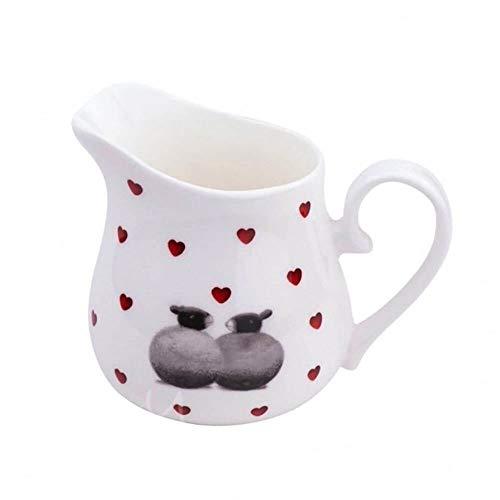 Lucy Pittaway Lovely Black & White Schaf Lamm Liebes Herz Kleine Runde Milchkanne China Cream Jug